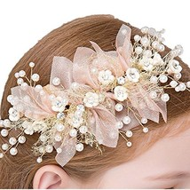 Bocianelli Girls Flower Wreath Headpieces Headband Handmade Adjustable Halo Flor