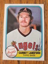 1981 Fleer #270 ~ Carney Lansford ~ California Angels ~ Baseball Card - $0.97