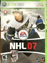 NHL 07 (Microsoft Xbox 360, 2006) Ice Hockey Video Game X Box Sports  - $6.92