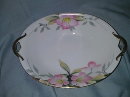 Noritake Azalea 9 In Oval Vegetable Bowl Red Mark 19322 H Paint Flower A... - $5.99