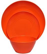 Melange 12-Piece  Melamine Dinnerware Set Solids Collection  | Shatter-P... - $28.58