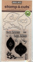 Hero Arts 2017 Christmas,  Acrylic Clear Stamp & Cut Set New CB2 - $29.02