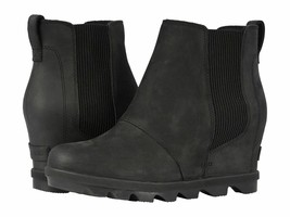 New SOREL Women's Joan of Arctic Wedge II Chelsea Boot Black - $228.02