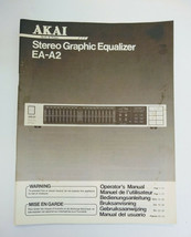 AKAI EA-A2 Stero Graphic Equalizer Original Operator's manual. - $12.00
