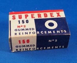 Vintage SUPERDEX n.2 Paper Rubberized reinforcements Advertising Design - $25.67