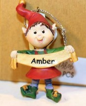 Christmas Ornaments WHOLESALE- Russ BERRIE- #13806 'AMBER'- (6) - New -W74 - $5.83