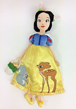 "Disney Doll Spring Fair Snow White Bambi Thumper Princess Plush Reversible 15"" - $29.02"