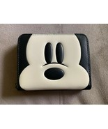 NWT Disney X Coach Mickey Mouse Face Small Zip Around Wallet 69203 - $250.00