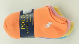 POLO RALPH LAUREN NEW KIDS GIRLS 5 PAIRS COTTON BLEND ANKLE SOCKS 4-6X - $16.82