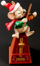 1995 Hallmark Ornament IN TIME WITH CHRISTMAS Wind Up Movement Metronome - £11.91 GBP