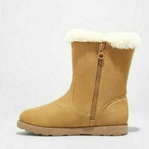 Cat & Jack Big Girls Tan Brown Microsuede Hadlee Faux Shearling Fur Winter Boots image 2