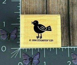 Stampin' Up! Small Bird Rubber Stamp 1998 Wood Mount #AA95 - $2.48