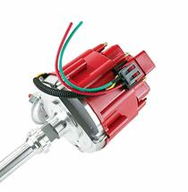 SBF Ford 289 302 5.0L HEI Distributor 65K Coil 8mm Red Silicone Spark Plug Wires image 6