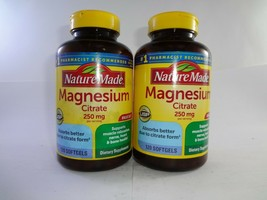 Nature Made Magnesium Citrate 250 Mg 120 Softgels (2PK) - $30.64