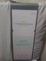 Threshold Beige XL Twin Size Bed Sheet Set in a Bag 220 Thread Ct. - $16.63