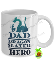 Dad Hero Dragon Slayer Mug Father's Day Birthday Coffee Mug - $14.84+