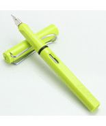 Lamy Safari Neon Yellow Color Fountain Pen + Roller Ball Pen  for choose - $13.09+
