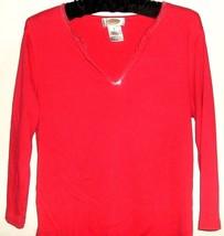 Women's Pink Sparkle Neck Top Size M Talbots - $9.99