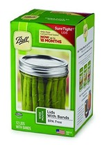 Ball Jars Wide Mouth Lids & Bands, 12 Lids and Bands - $8.94