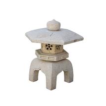 Chinese Zen Off White Hexagon Stone Garden Lantern Statue cs4234 - $980.00
