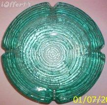 ANCHOR HOCKING SORENO AQUAMARINE GLASS ASHTRAY - $14.95