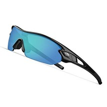 TOREGE Polarized Sports Sunglasses with 5 Interchangeable Lenes for Men ... - $25.69