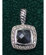 DAVID YURMAN Sterling Silver Petite Albion Pendant with Hematite and Dia... - $285.00