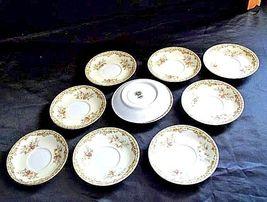 Noritake China Nana Rosa Pattern # 682 Tea Saucers AB 336-BVintage image 3