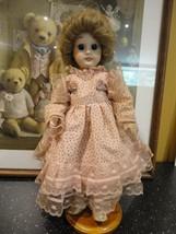"Antique Vintage All Porcelain Doll 14"" No Mark Large Blue Glass Eyes Tee... - $259.20"