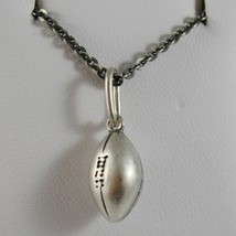 Silver Necklace 925 Burnished Pendant to Ball from Football Made in Italy - $146.72