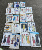 LOT 19 Women Size 12 Vtg Sewing Patterns 1970's Dresses Skirts Pants Mat... - $22.76