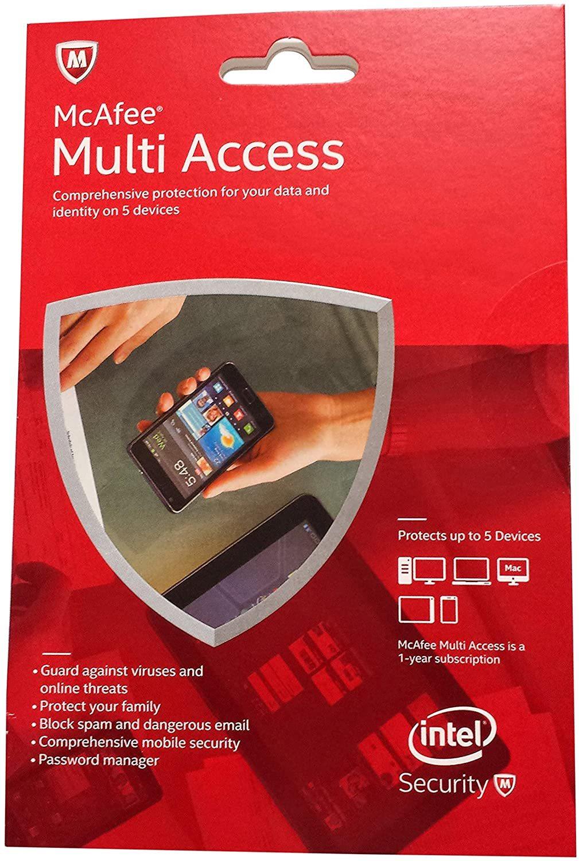 McAfee 2015 Multi Access 1 User 5 Devices MMD15E - $12.58