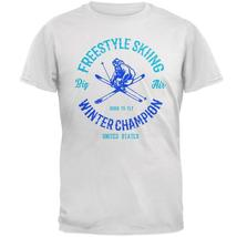 Winter Games Freestyle Skiing Champion USA Mens Soft T Shirt - $22.00