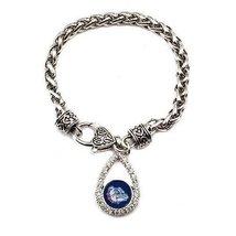 Inspired Silver The Gonzaga University Teardrop Charm Silver plated Brac... - $649,99 MXN