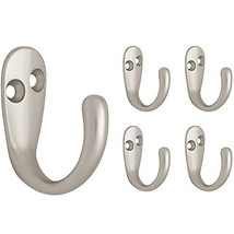 Franklin Brass FBSPRH5-MN-C Single Prong Robe Hook, 5-Pack, Matte Nickel, 5 Piec