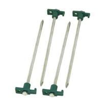 Coleman 10 Inch Steel Tent Stakes Green/Silver 2000016444 - $15.77