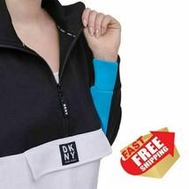 NWT DKNY Ladies' 1/2 Zip Pullover (Black & Rosebud) M - $19.99