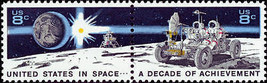 1971 8c Space Achievement, Pair Scott 1434-35 Mint F/VF NH - $0.99