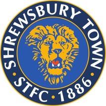 Shrewsbury composite laminated circular wall plaque 25cm football - $32.00