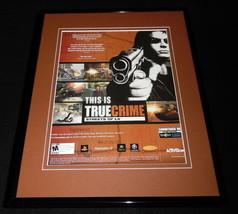 True Crime Streets of LA 2004 PS2 Xbox Framed 11x14 VINTAGE Advertisement  - $22.55