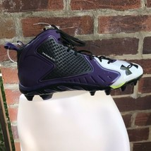 Under Armour Purple/ White Football Cleats Clutch Fit Men's Size 15 - $74.25