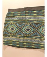 """American Eagle Woven Mini Skirt 14"""" Long Size 2 Zipper Back Elastic Waist - $12.34"""