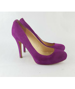 Ivanka Trump Pumps 8 Purple Suede - $18.69