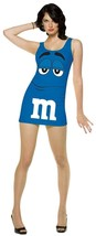 M&M Womens Dress Costume Candy Blue Adult Halloween Party Unique GC4045 - $49.99