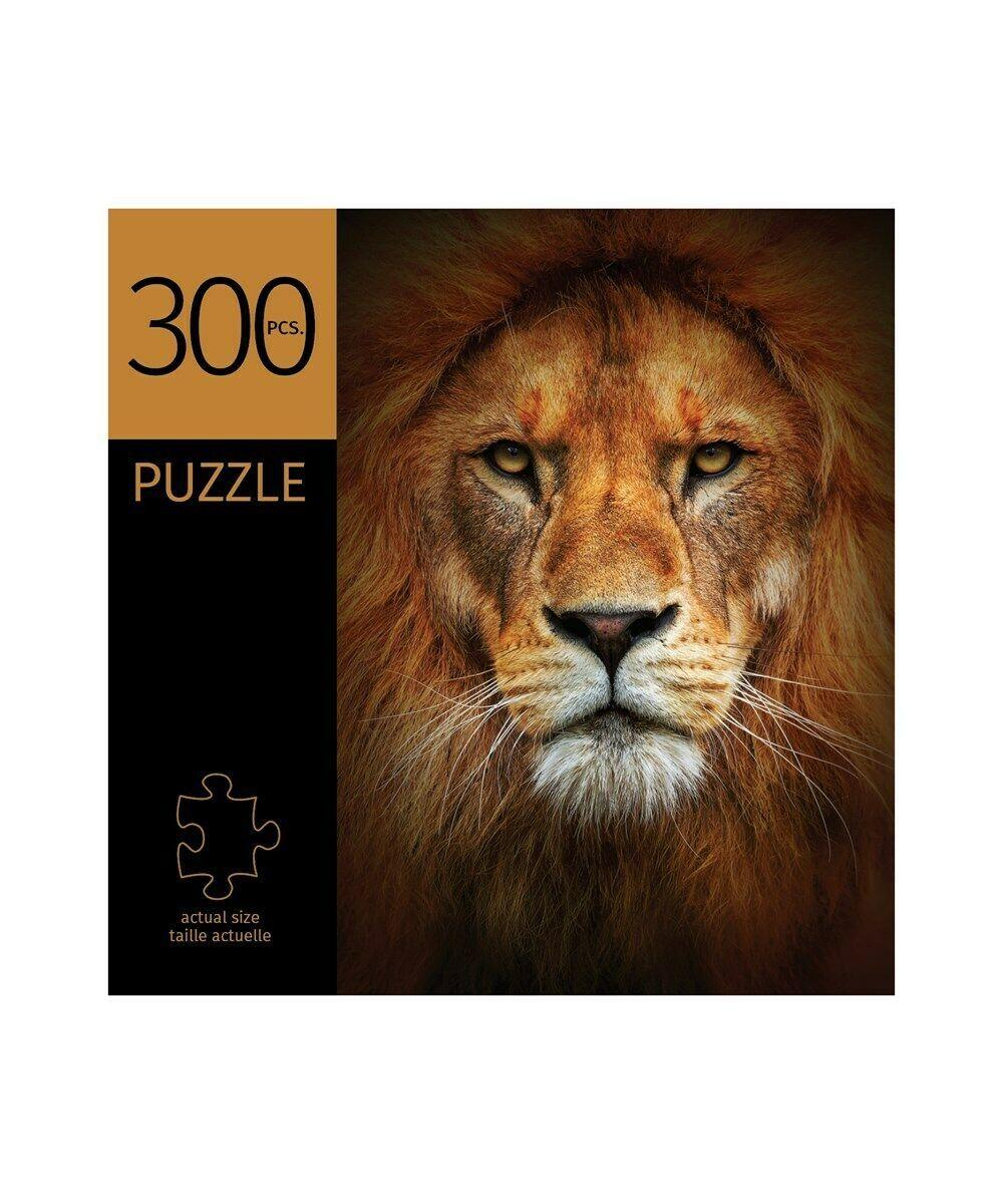 """Lion Face Design Jigsaw Puzzle 300 pc Durable Fit Pieces 11"""" x 16"""" Complete"""