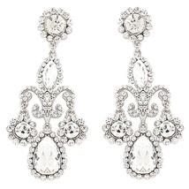 Bridal Wedding Prom Jewelry Crystal Rhinestone Exquisite Dang - $69.30