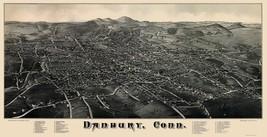 Danbury Connecticut - Burleigh 1884 - 23 x 44.68 - $36.95+