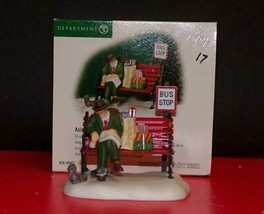 "Dept 56 Christmas in the City ""Asleep At The Bus Stop""; #58993-NEW IN BOX - $21.78"