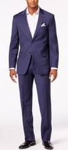 Tommy Hilfiger Soft Blue Windowpane Stretch Performance Modern-Fit Suit,L44,W38 - $316.79