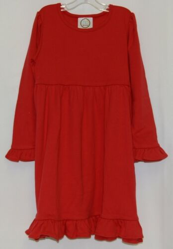 Blanks Boutique Long Sleeve Empire Waist Red Ruffle Dress Size 5T